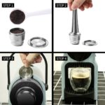 iCafilas Coffee Filters Capsule Pod For Nespresso Refillable Capsula Nescafe Stainless Steel Coffee Brackets Cup and Tamper 1