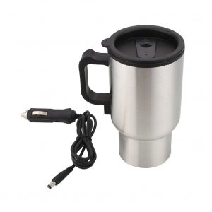 Electric Heated Cup for Coffee Tea Drinks 450ML Thermos Thermal Insulated Mug Stainless Steel Water Heater Kettle Travel cup