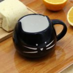 Ceramic Cute Cat Mugs With Spoon Coffee Tea Milk Animal Cups With Handle 400ml Drinkware Nice Gifts 5