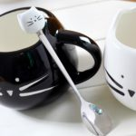 Ceramic Cute Cat Mugs With Spoon Coffee Tea Milk Animal Cups With Handle 400ml Drinkware Nice Gifts 2