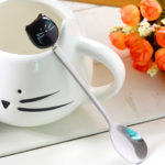 Ceramic Cute Cat Mugs With Spoon Coffee Tea Milk Animal Cups With Handle 400ml Drinkware Nice Gifts 3