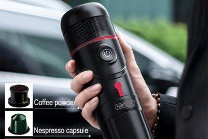 Portable Car Coffee Machine Coffee Maker Capsule  Espresso Maker Household Office Outgoing Coffee Machine
